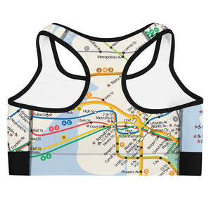 New York City Map Sports bra