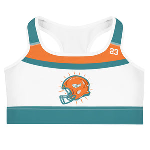 Miami Dolphins Football Fans Sports bra
