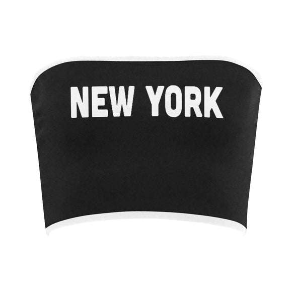 New York Printed Bandeau Top