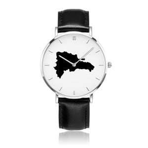 Dominican Republic Black Map Watch