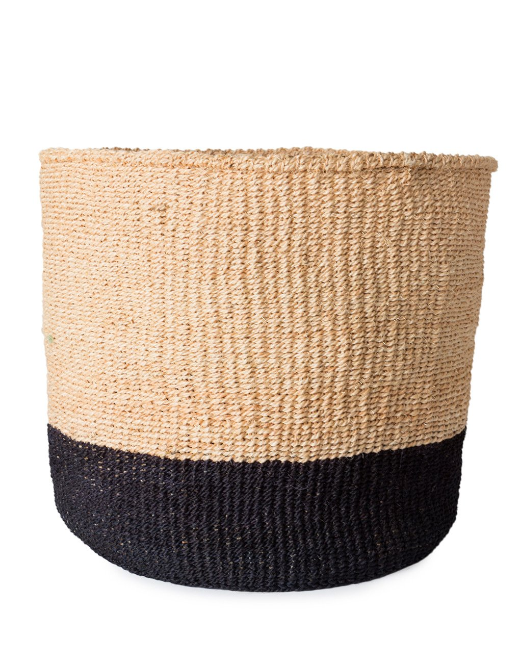 Sisal Storage Basket Colourblock Black