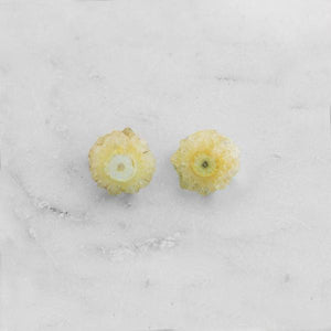 Solar Quartz Studs Yellow