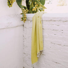 Cacti Yellow Linen and Cotton Throw/Blanket