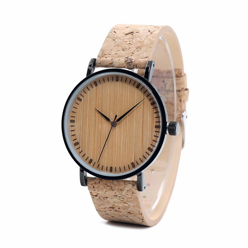 Montre en bois - Cork Steel