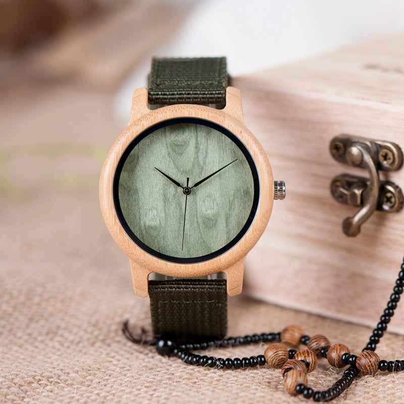 Montre en bois - Green Bücker