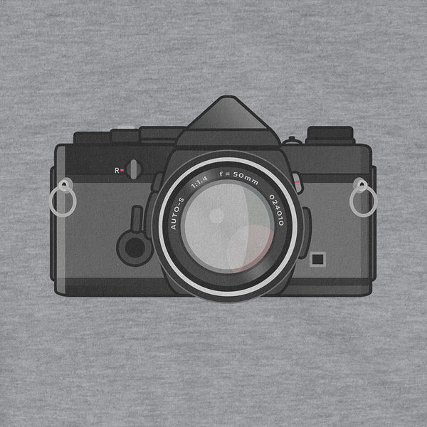 Olympus OM-1 Black Body New Tee Shirt Retro Camera Close Up Pattern