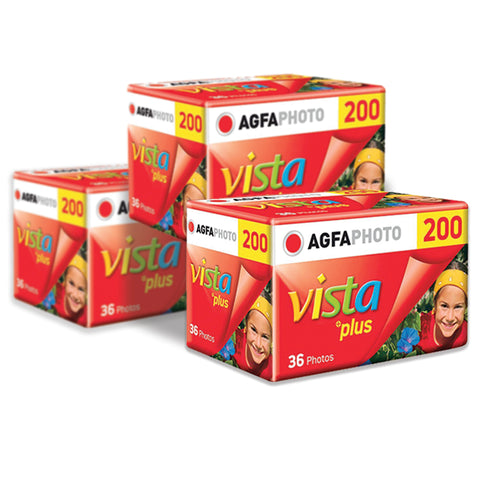 AgfaPhoto Vista plus 200 ISO Color Film 3 Pack