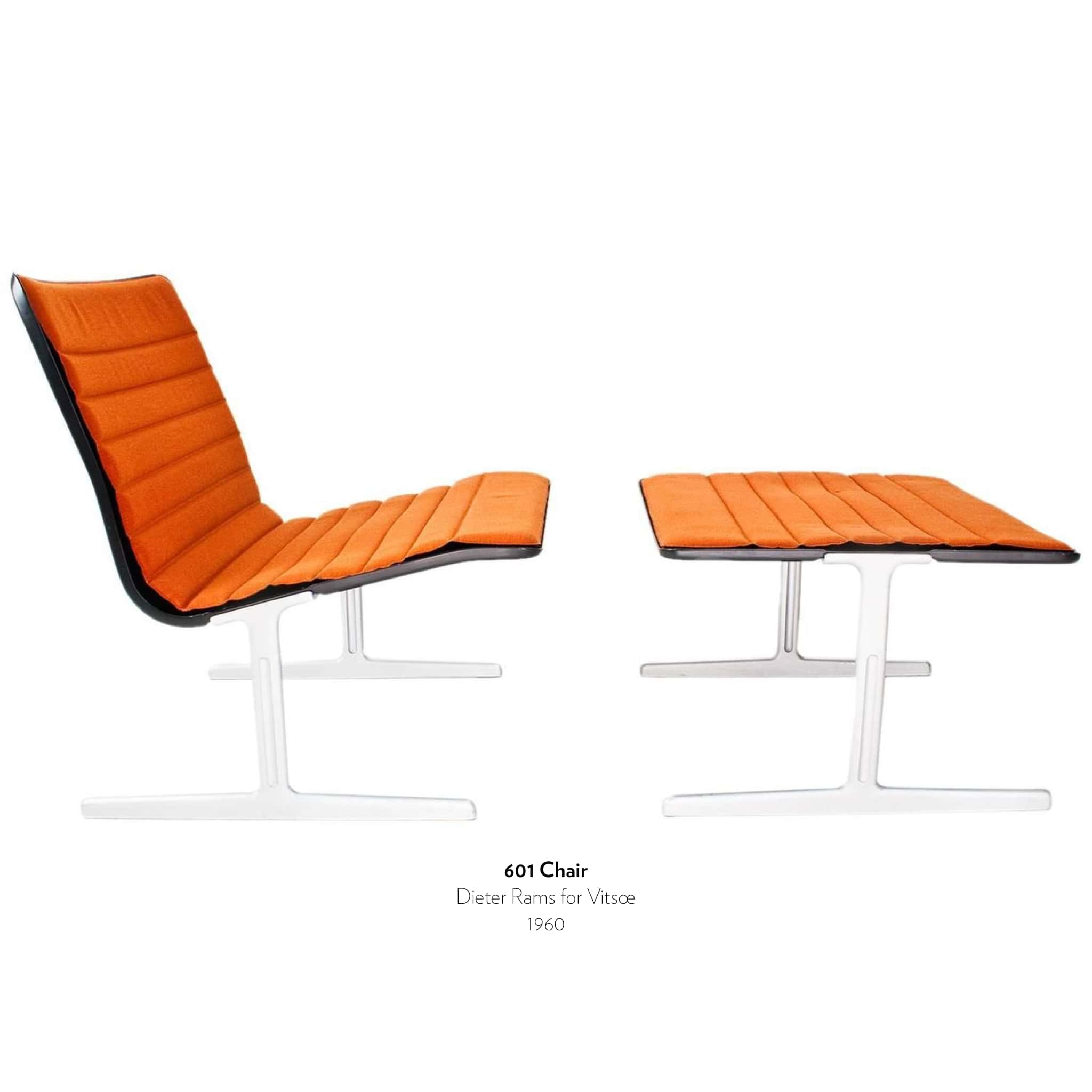 601 Chair designed by Dieter Rams for Vitsoe in 1960.