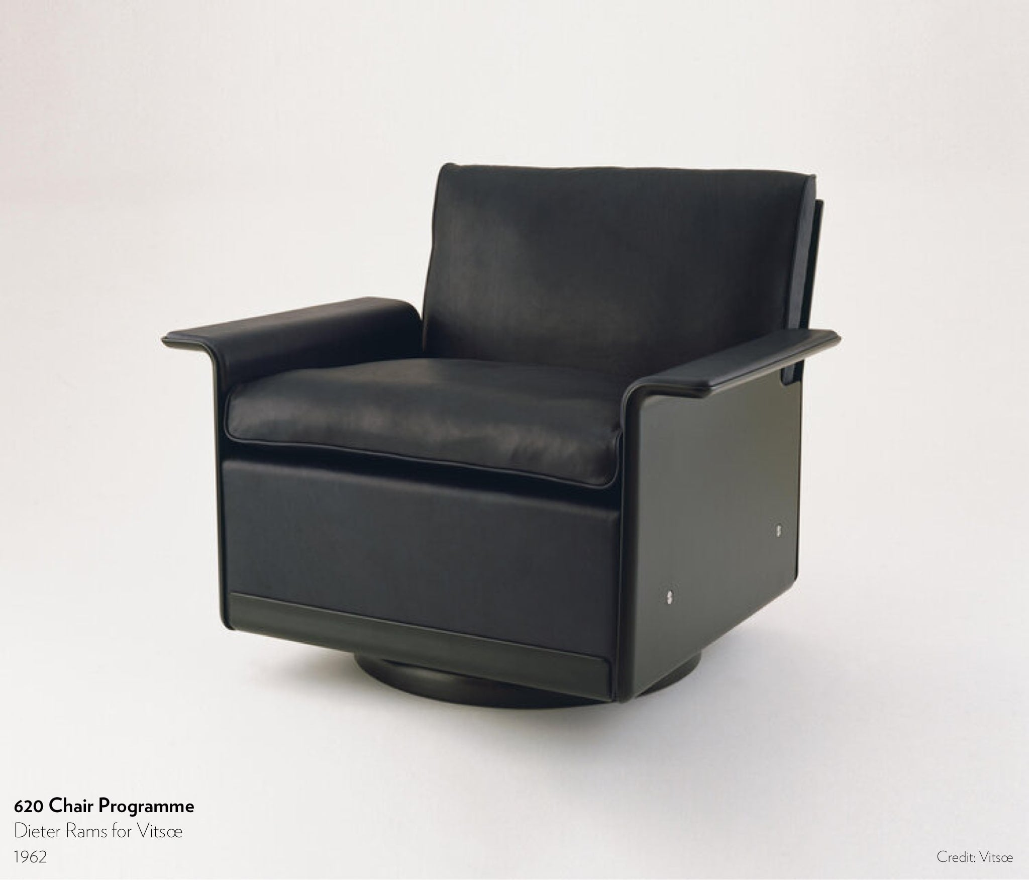 620 Chair Programme designed by Dieter Rams for Vitsoe in 1962.