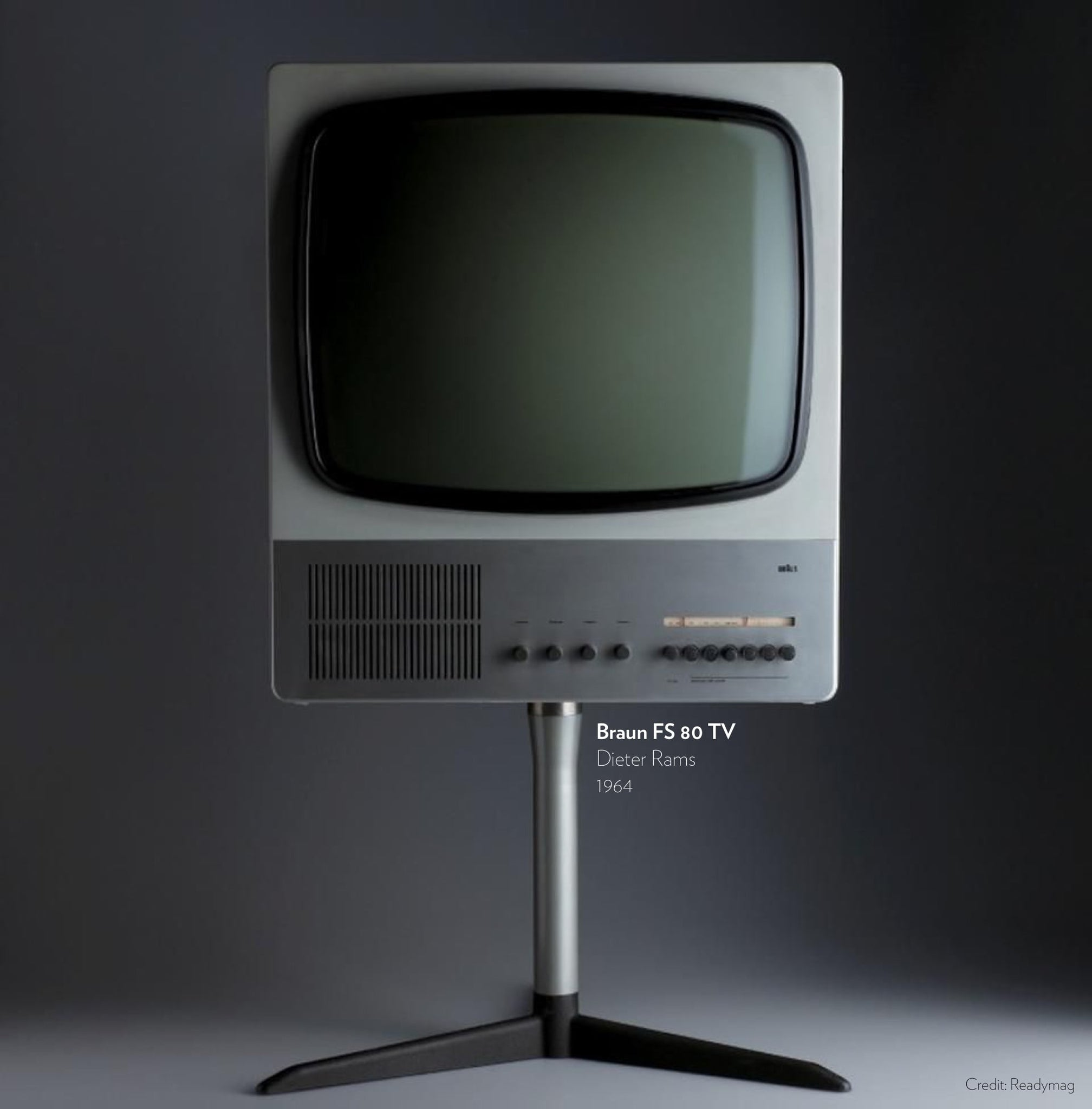 Braun FS 80 TV designed by Dieter Rams in 1964.
