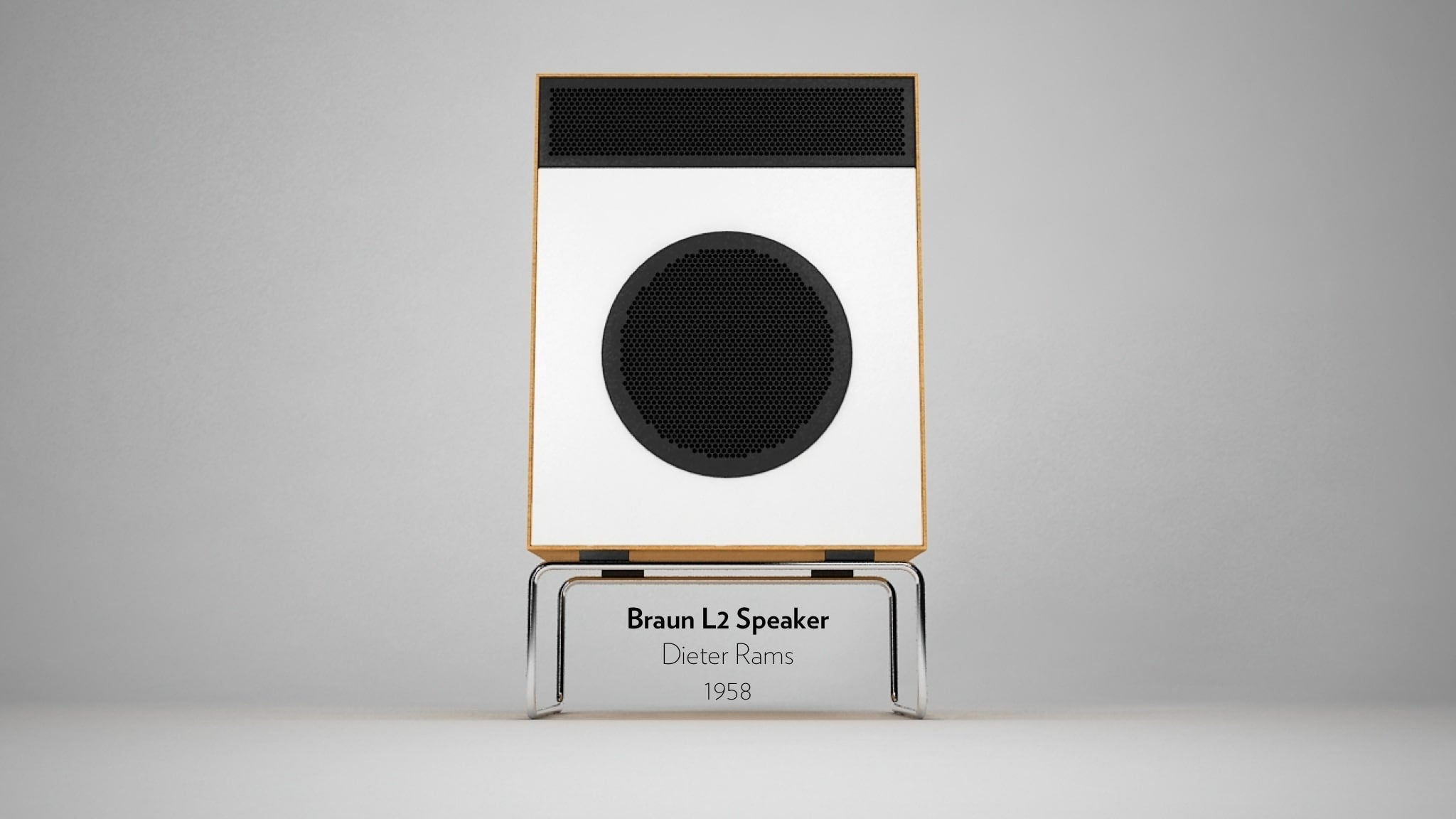 Braun L2 Speaker designed by Dieter Rams in 1958.