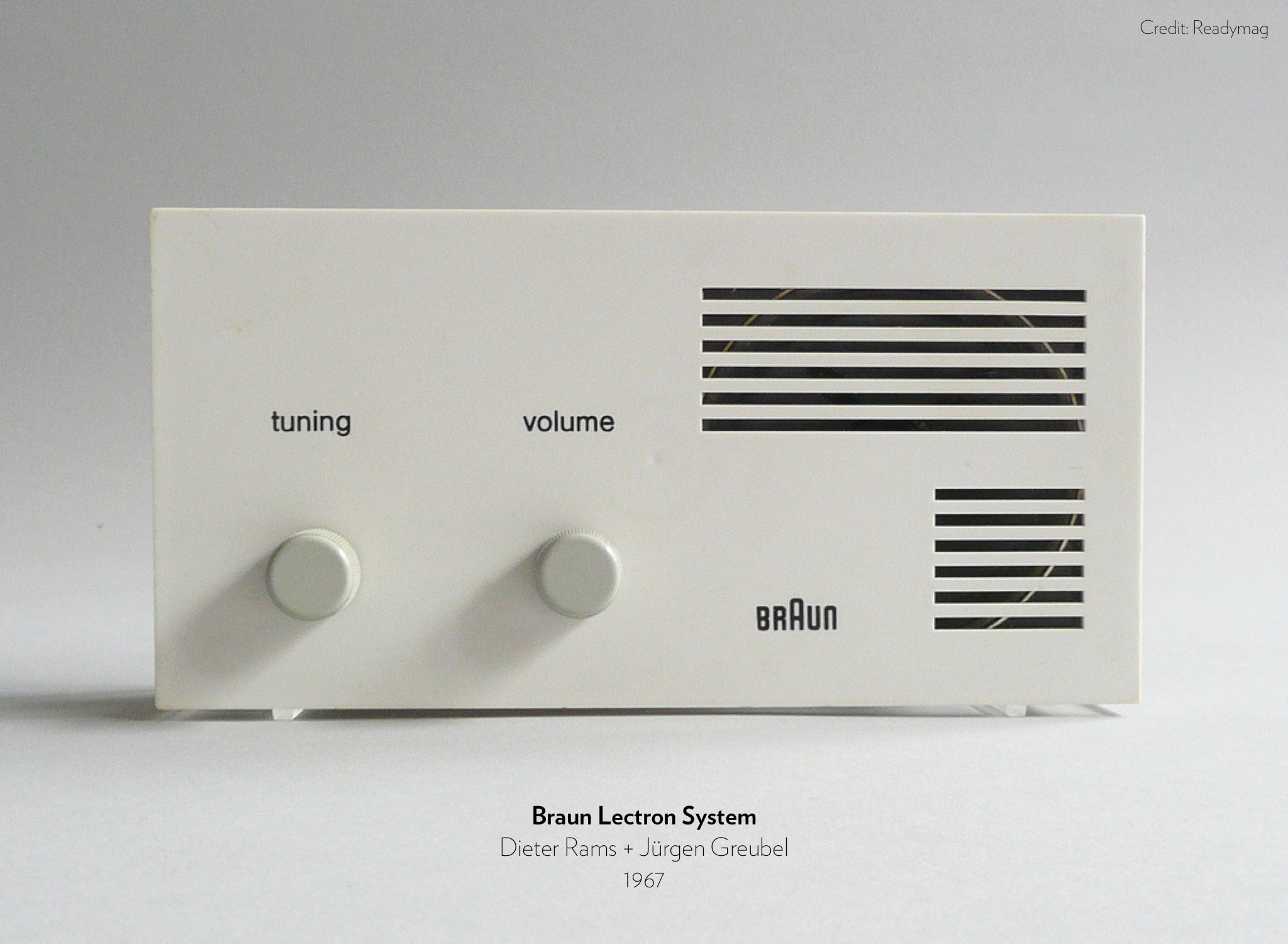 Braun Lectron System designed by Dieter Rams and Jürgen Greubel in 1967.