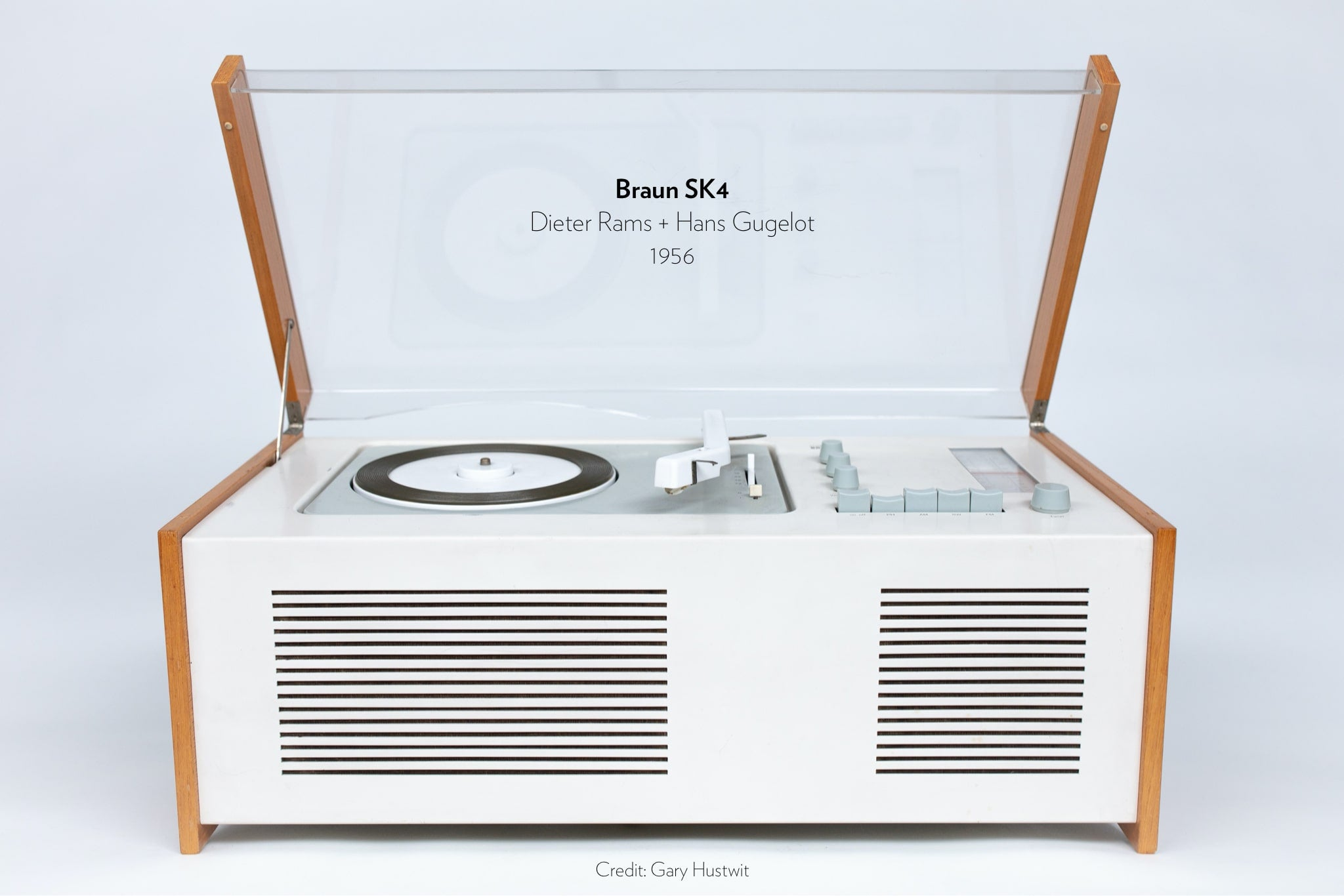 Braun SK4 designed by Dieter Rams and Hans Gugelot in 1956.