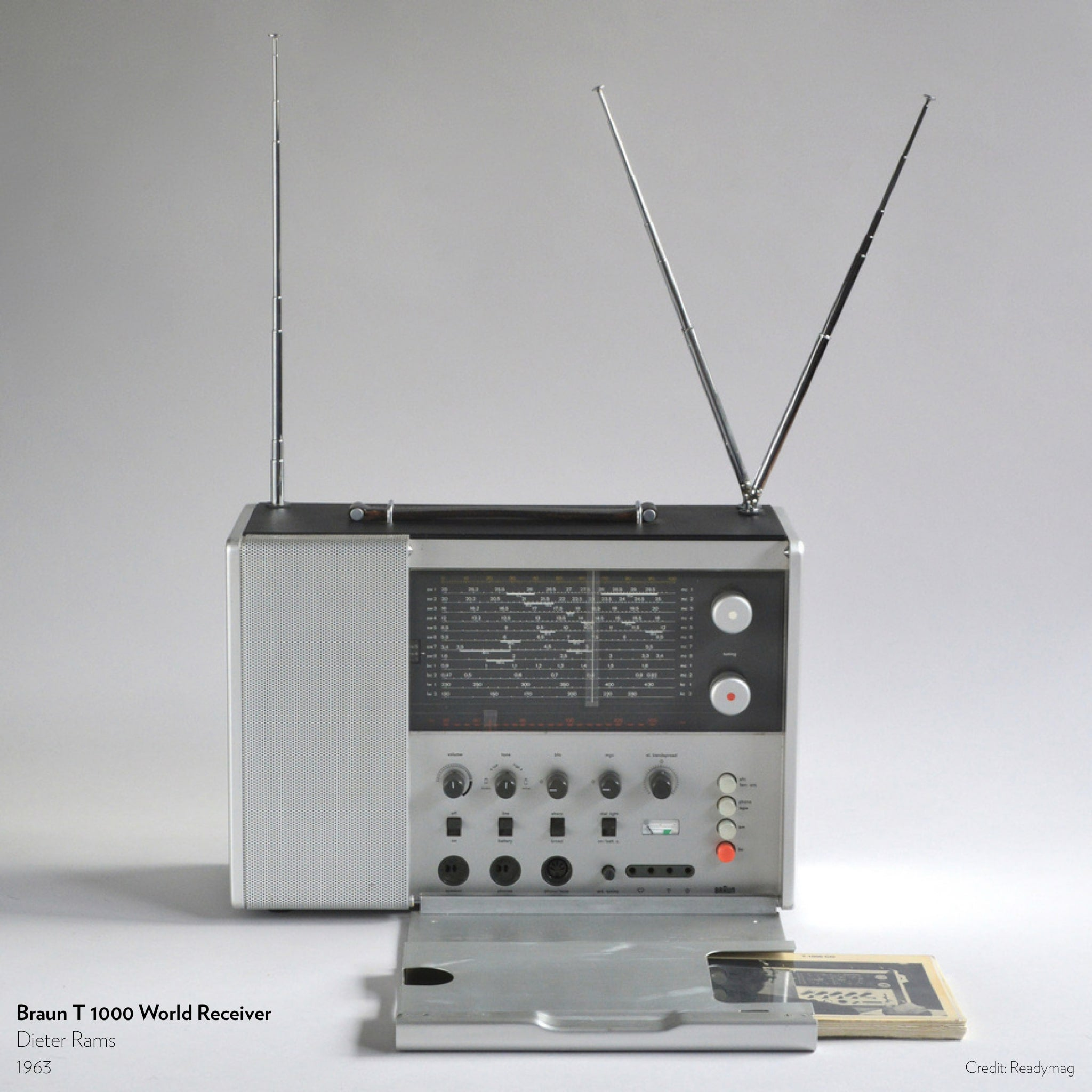 Braun T 1000 World Receiver designed by Dieter Rams in 1963.