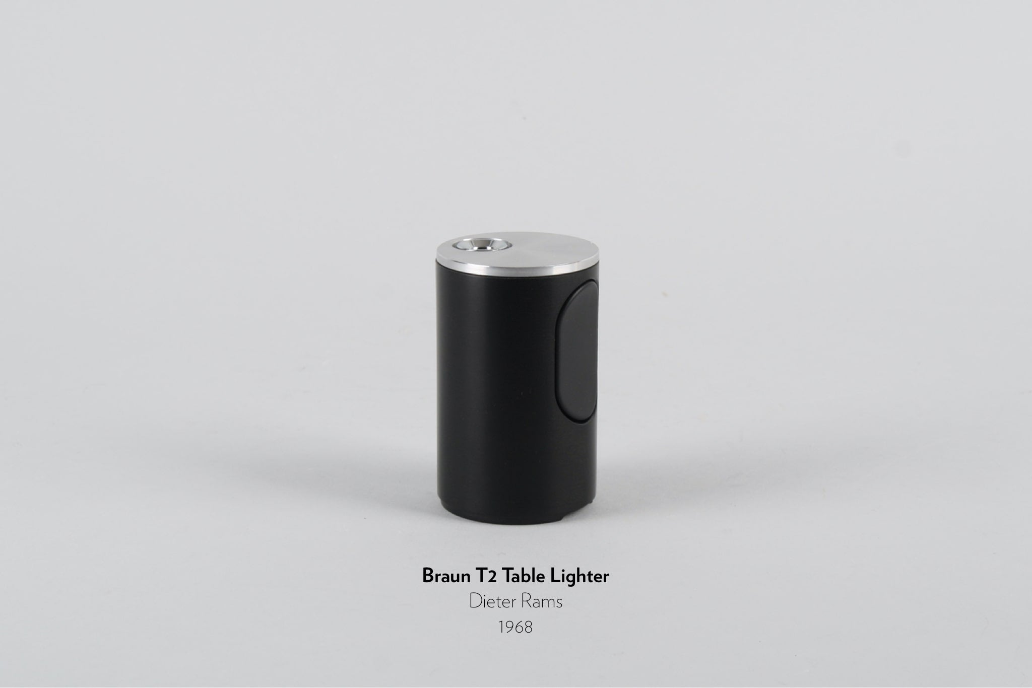 Braun T2 Table Lighter designed by Dieter Rams in 1968.
