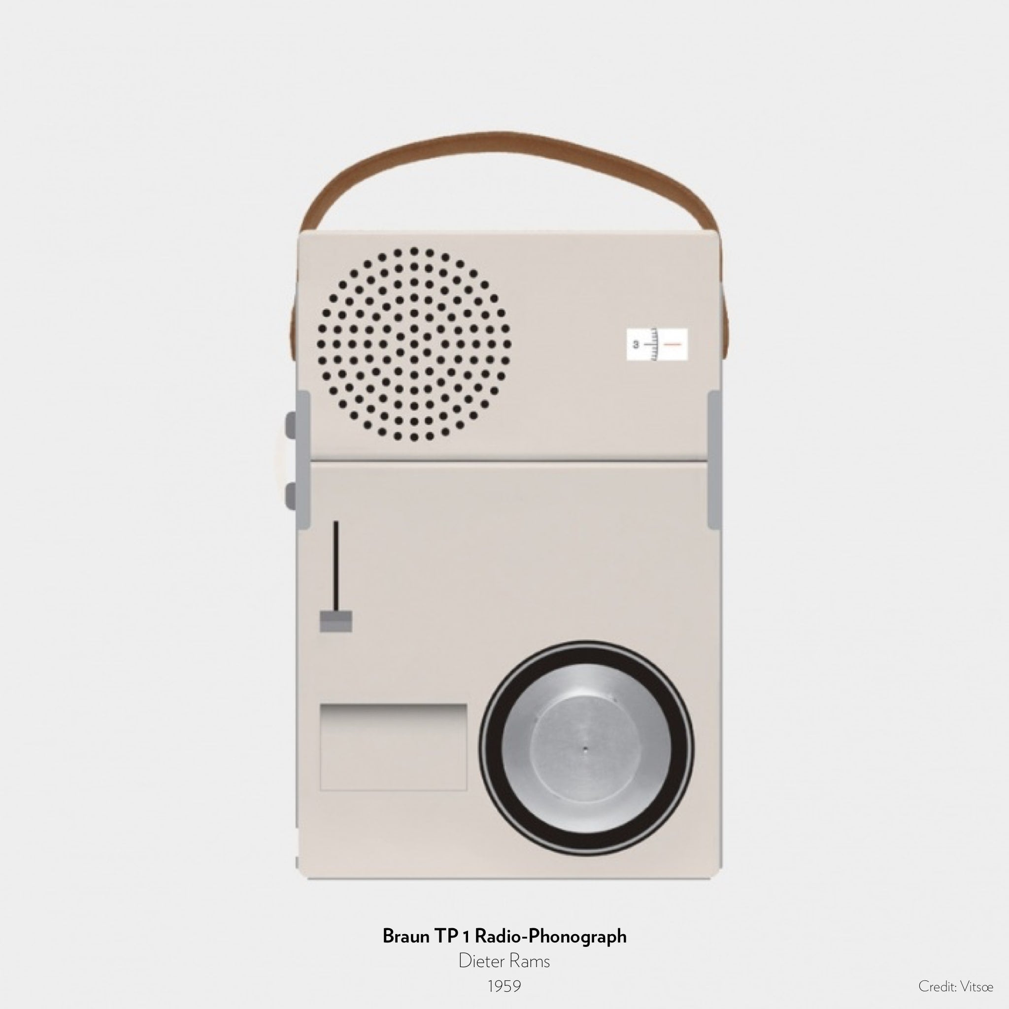 Braun TP 1 Radio-Phonograph designed by Dieter Rams in 1959.
