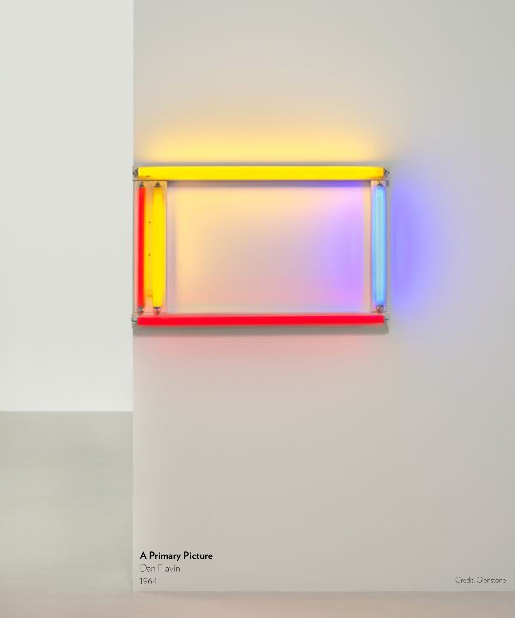 A Primary Color by Dan Flavin, 1964.