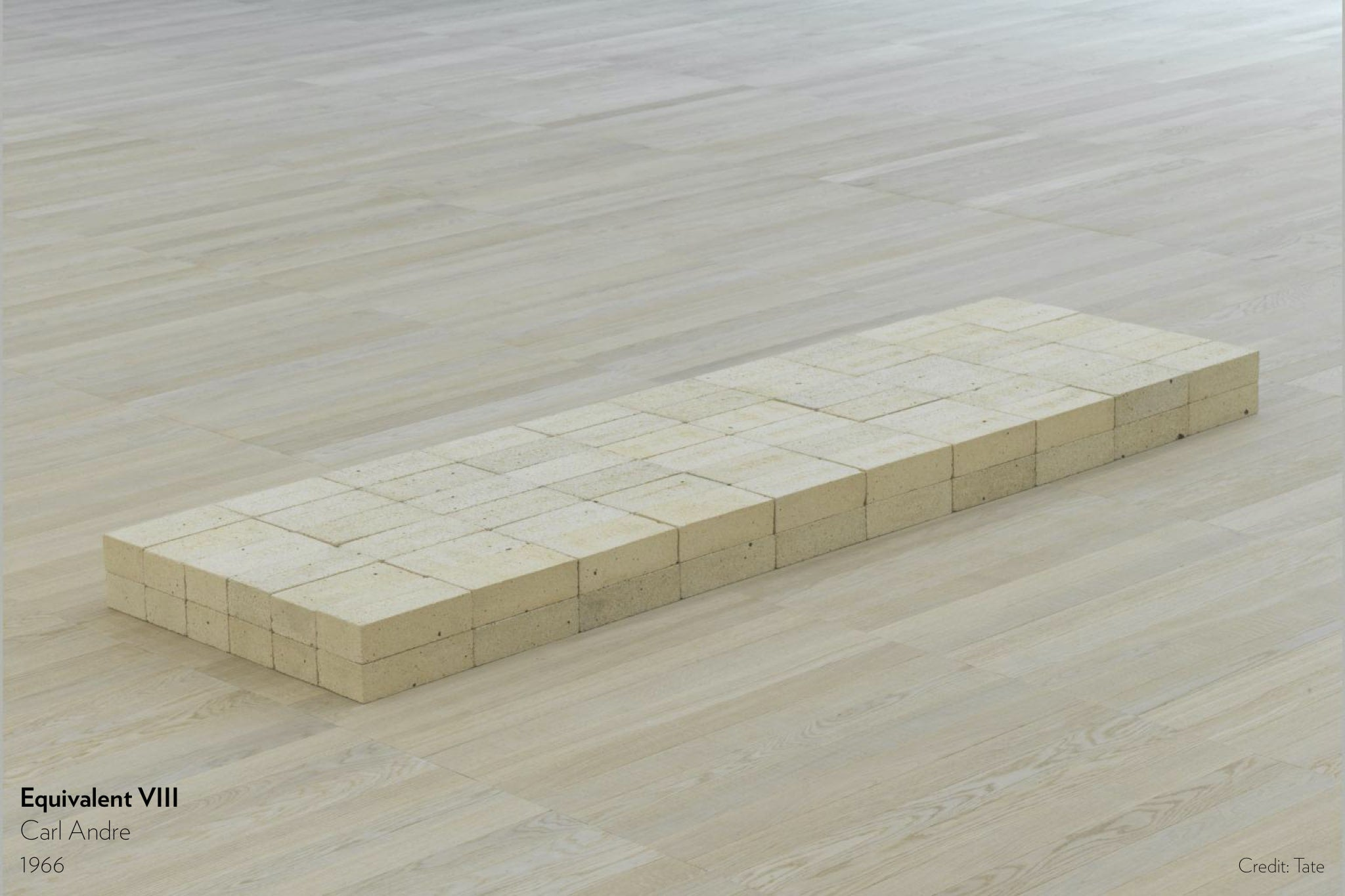 Equivalent VIII by Carl Andre, 1966.
