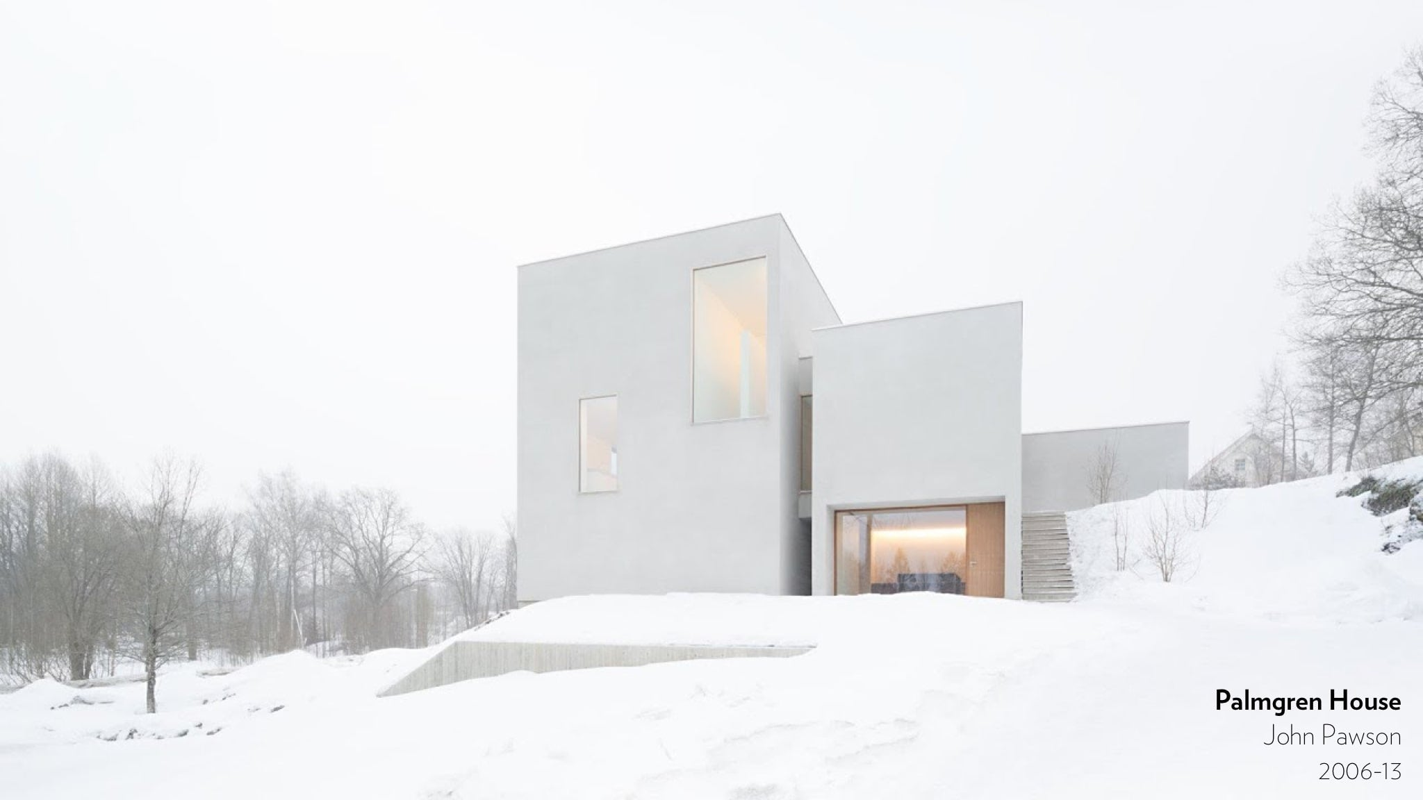 Palmgren House by John Pawson, 2006 to 2013.