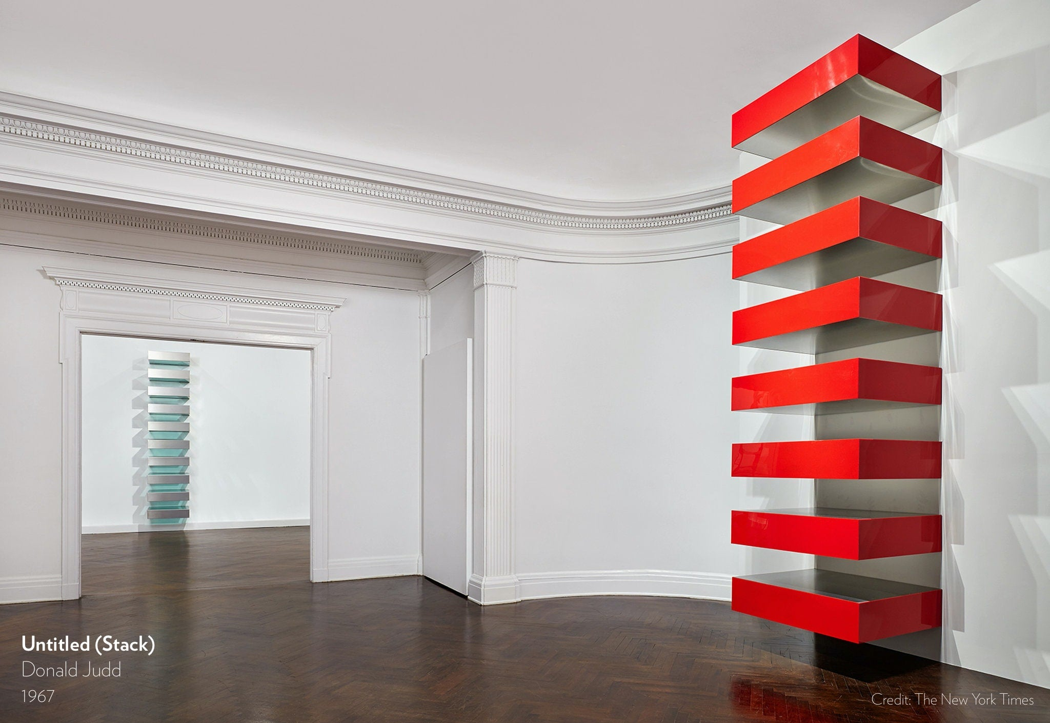 Untitled (Stack) by Donald Judd, 1967.