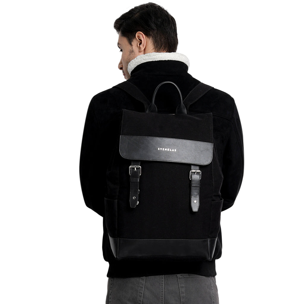 Svenklas amber black backpack