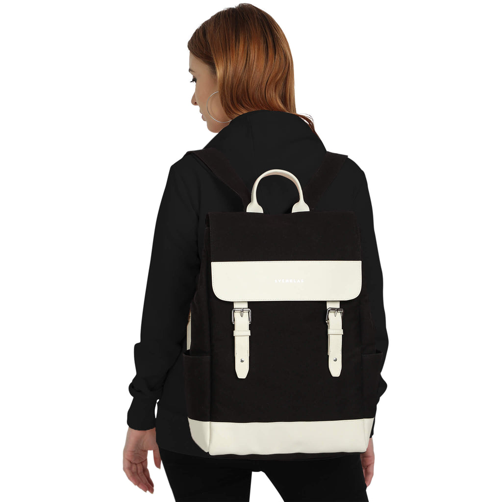 Amber white black backpack