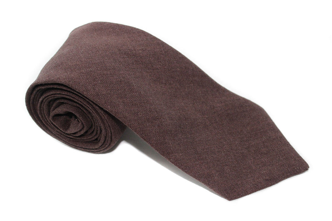 The Cocoa Linen Neck Tie