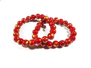 Red Orient Bracelet Stack