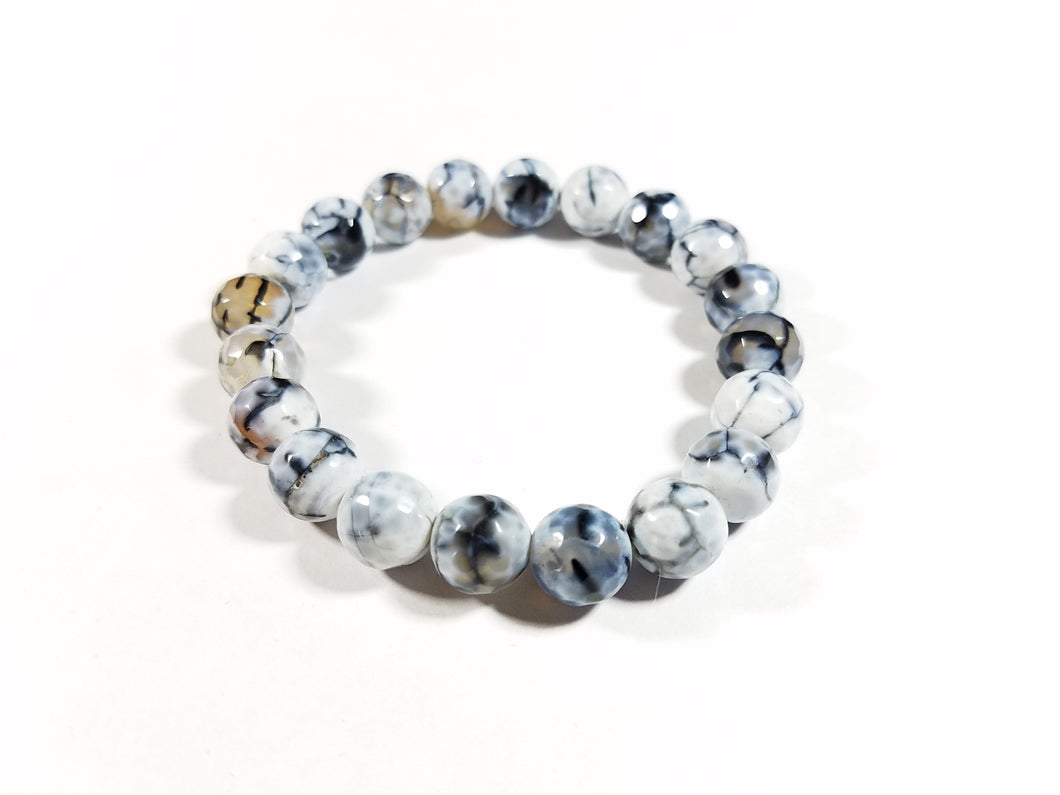 White Ice Fire Crackle Bracelet