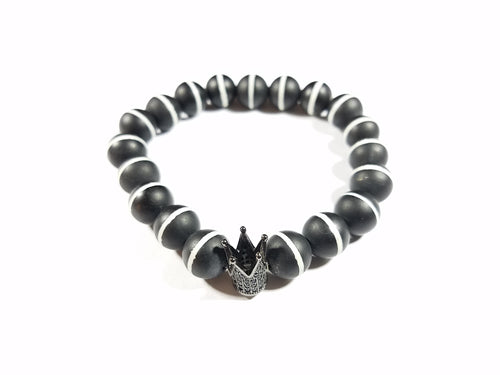 Black King Agate Bracelet