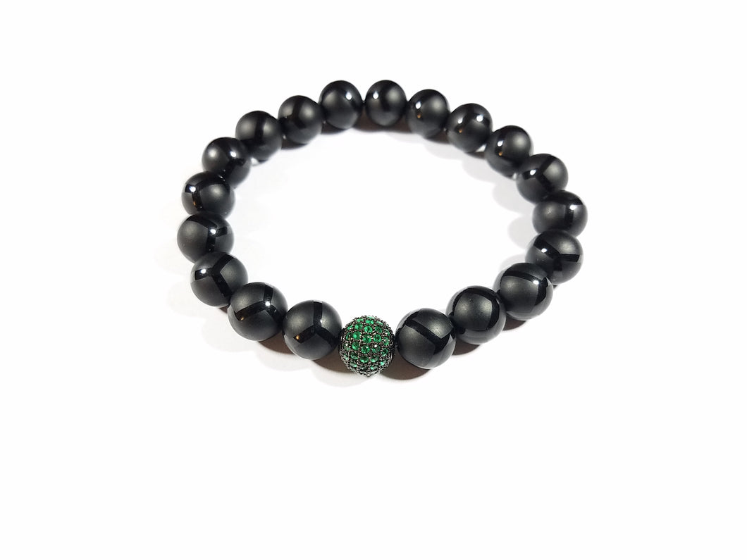 Black Mother Earth Agate Bracelet