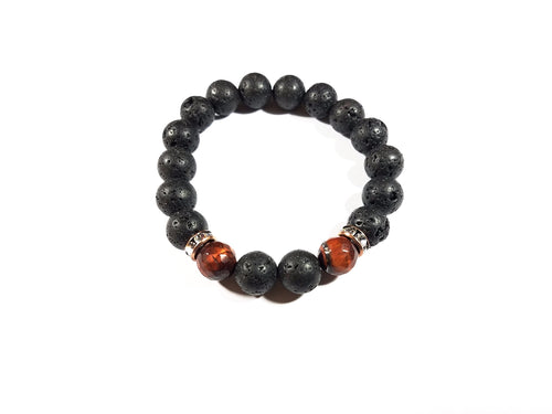 Black Lava Tiger Bracelet