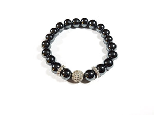 Hematite Silver King of the World Bracelet Stack