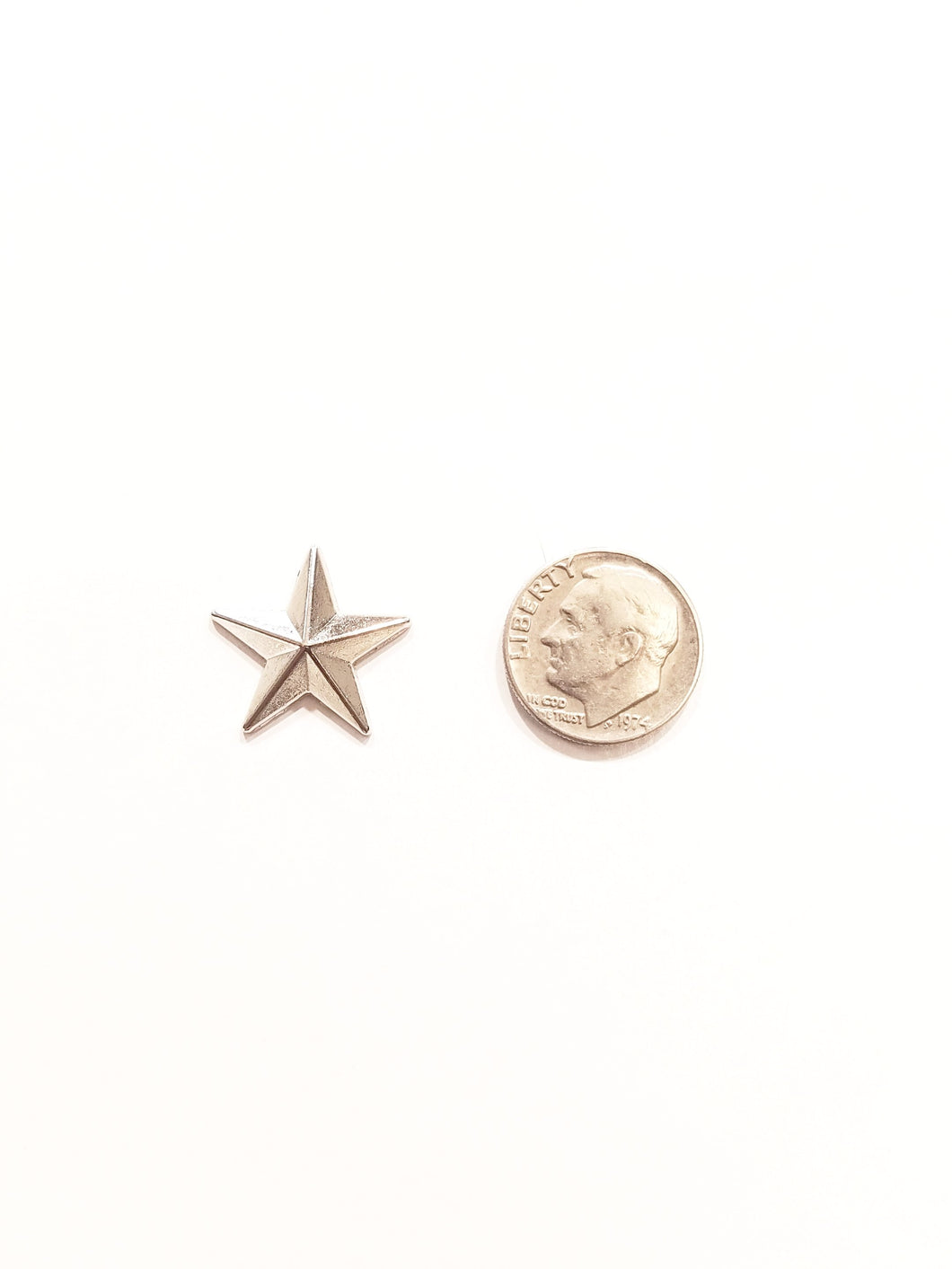 Super Star Silver Lapel Pin