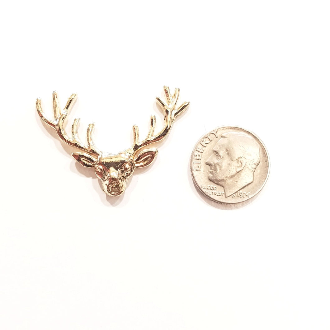 Golden Stag Lapel Pin