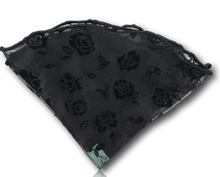 Black Rose Silk Pocket Round