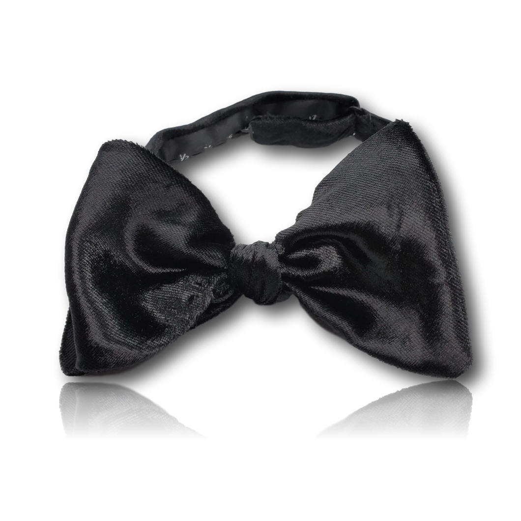 Silk Velvet Black Bow Tie