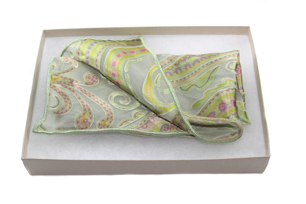 The Pear Breeze Silk Pocket Square