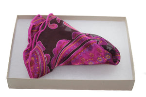 The Fuchsia Perennial Silk Pocket Round