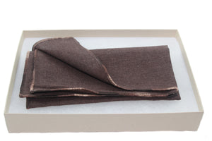 The Cocoa Linen Pocket Square