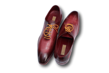 Men's Burgundy Wholecut Plain Toe Oxfords