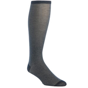 Black and Ash Nail Cotton Sock Linked Toe-Over the Calf