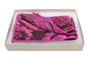 The Fuchsia Perennial Silk Pocket Square