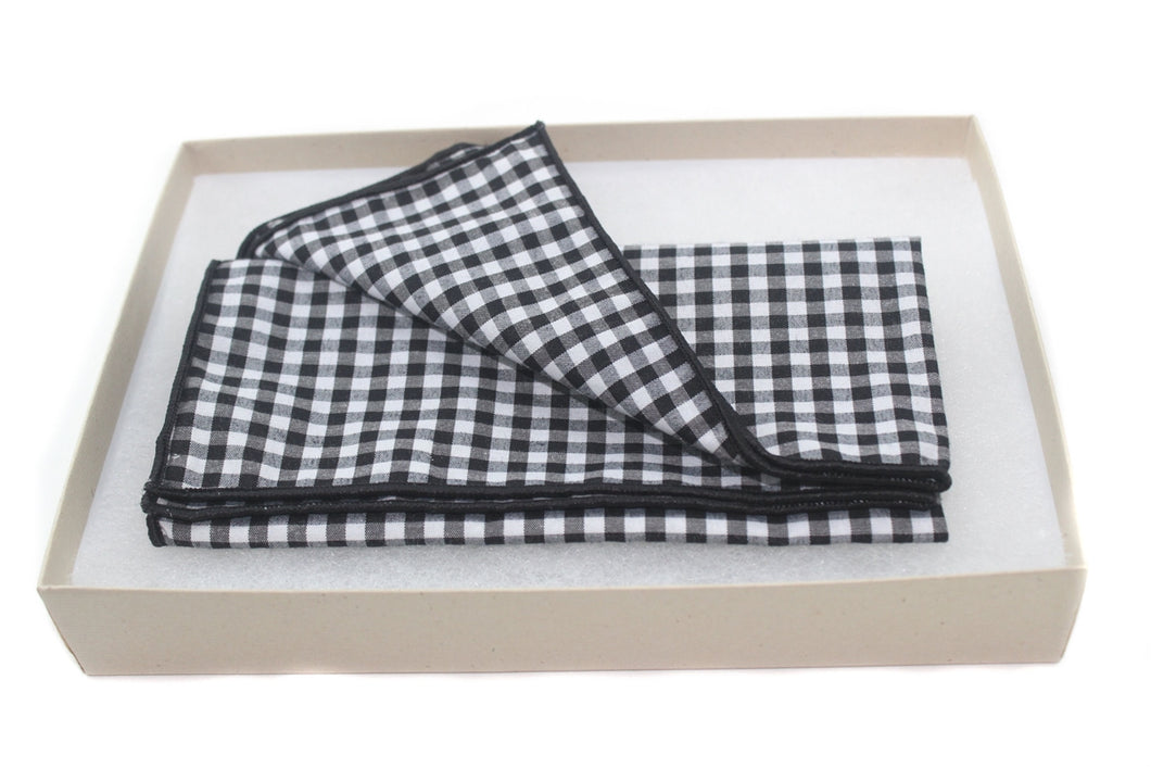 The Chess Board Cotton Pocket Square