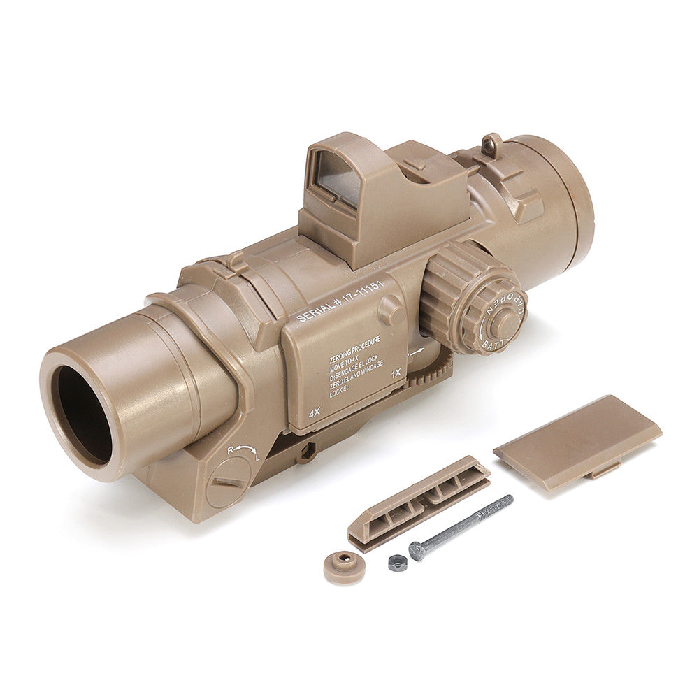Sand Color Tactical 4 Times Red Dot Magnifier Scope Sight