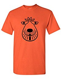 Mens Retro 70's Space Hopper, Chopper, BMX, T Shirt Orange bouncer S-3XL