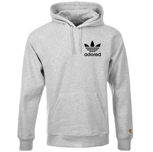Z Stone Roses Adored Tribute Grey Hoodie