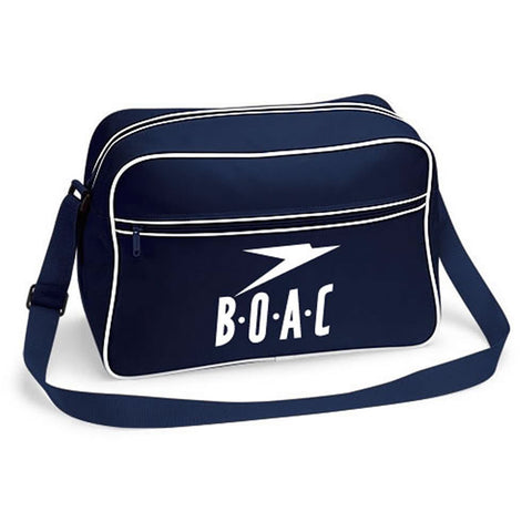 Retro BOAC Flight Shoulder Bag Luggage Pan Am