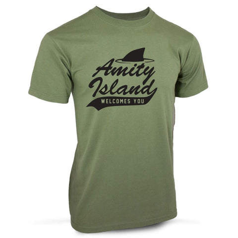 Jaws Movie Amity Island Quints Shark Fishing Retro TShirt 70's 80s Film T-Shirt
