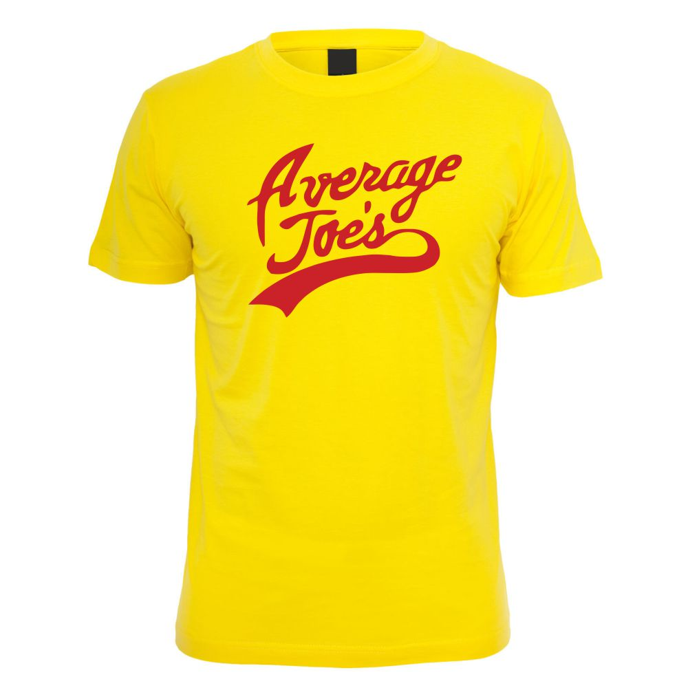 Average Joes Gym Dodgeball TShirt in Yellow
